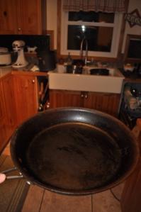 Large Seasoned Frying Pan